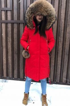 Max Mara короткий пуховик женский красного цвета зима 2017-2018