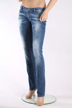 Хлопковые джинсы женские Dolce Gabbana с потертостями