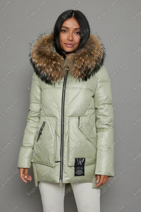 Теплая молодежная куртка парка Burberry с мехом енота