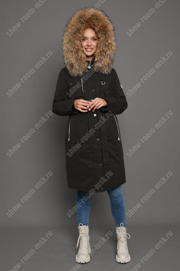 Короткая куртка с капюшоном для зимы на молнии
