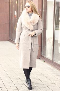 Элегантное длинное пальто 2018-2019