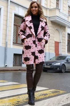 Шерстяное весеннее пальто с английским воротником