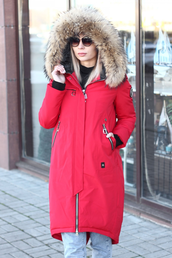 Куртка парка красная